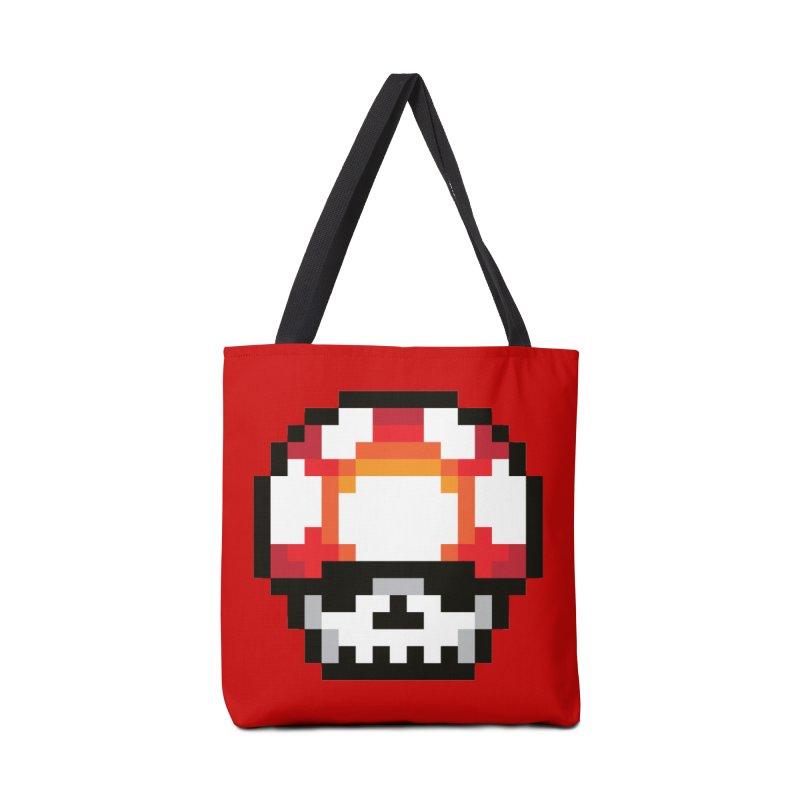 Pixel mushroom Accessories Bag by Steven Toang