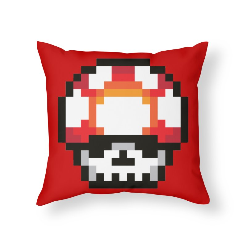 Pixel mushroom Home Throw Pillow by Steven Toang
