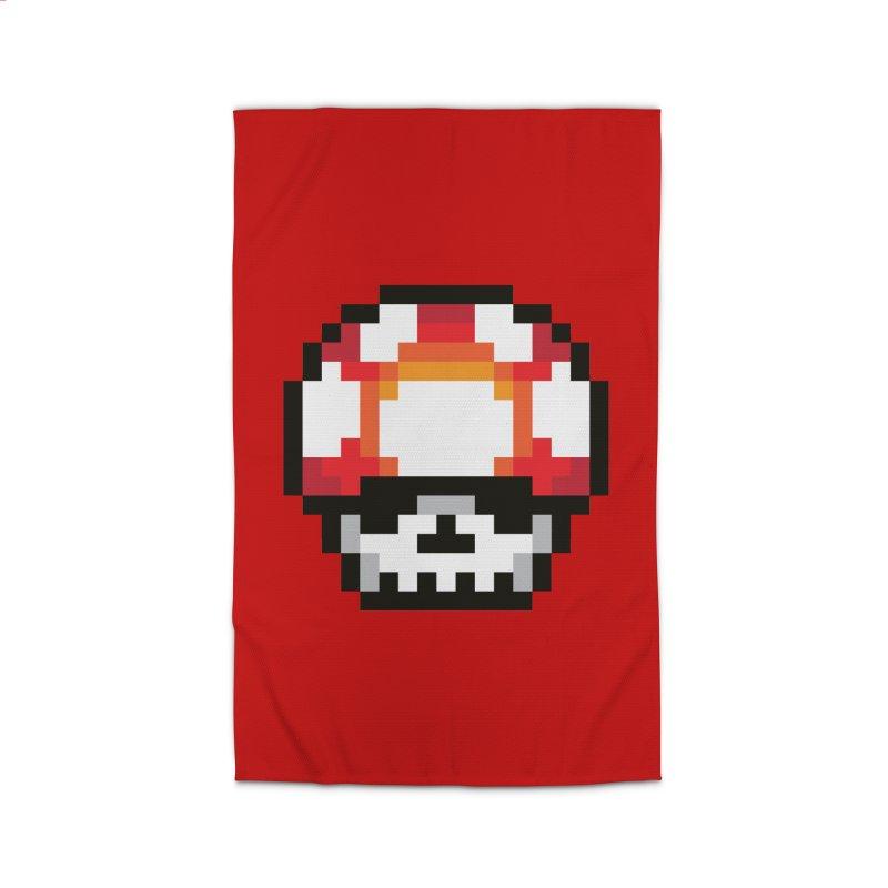 Pixel mushroom Home Rug by Steven Toang