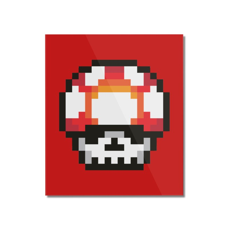 Pixel mushroom Home Mounted Acrylic Print by Steven Toang