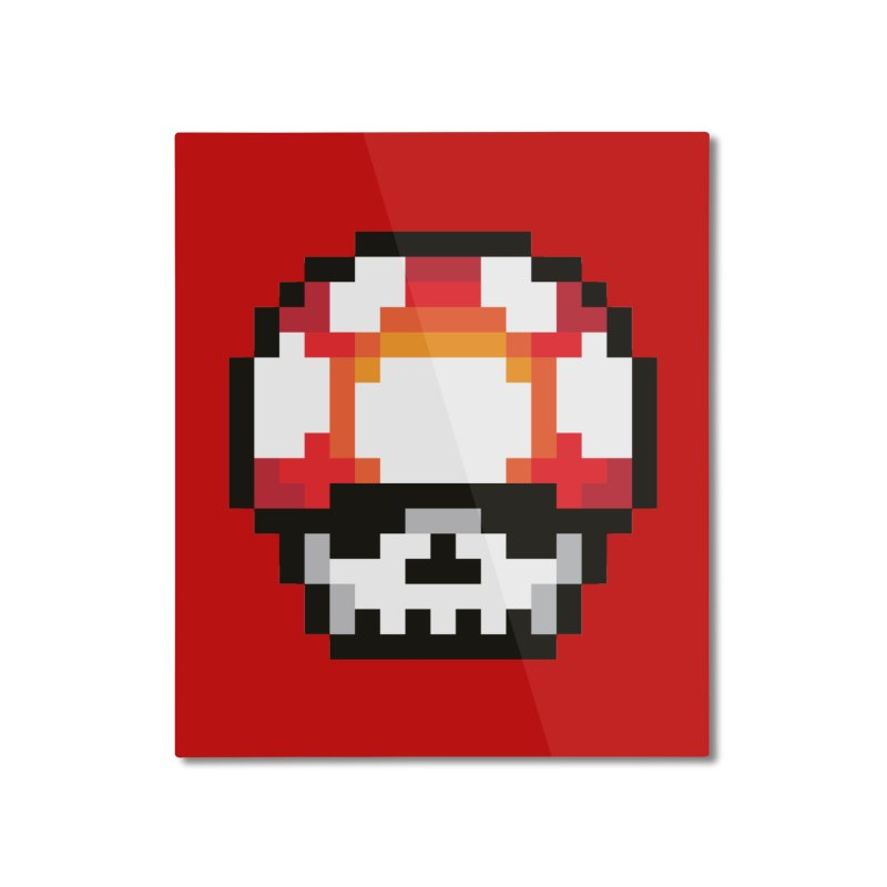 Pixel mushroom Home Mounted Aluminum Print by Steven Toang