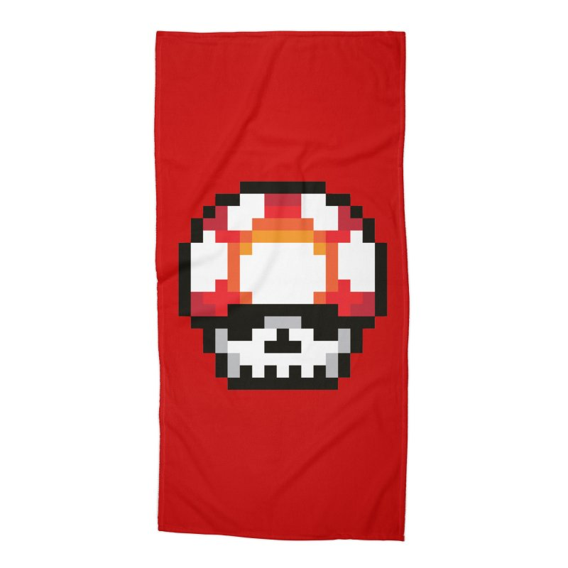 Pixel mushroom Accessories Beach Towel by Steven Toang
