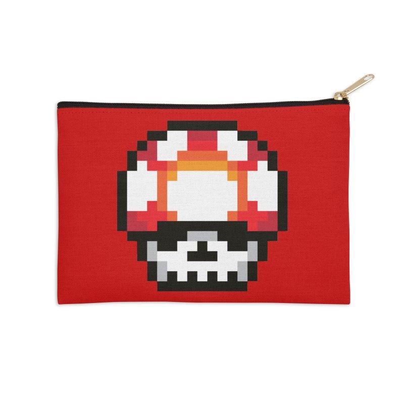 Pixel mushroom Accessories Zip Pouch by Steven Toang