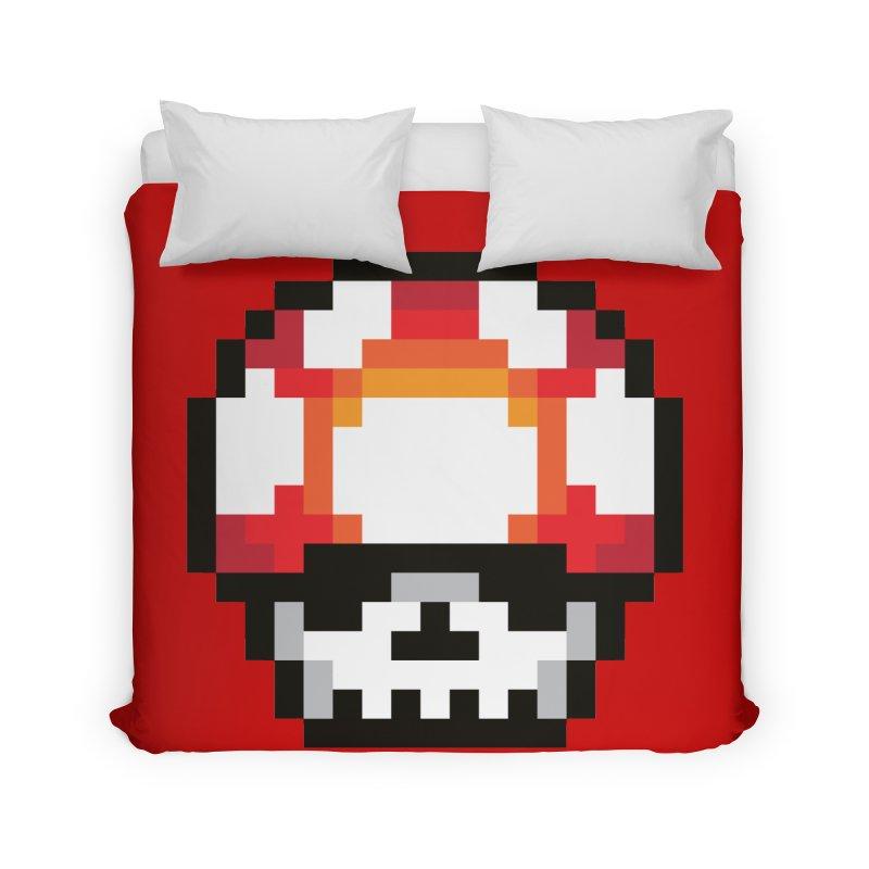 Pixel mushroom Home Duvet by Steven Toang