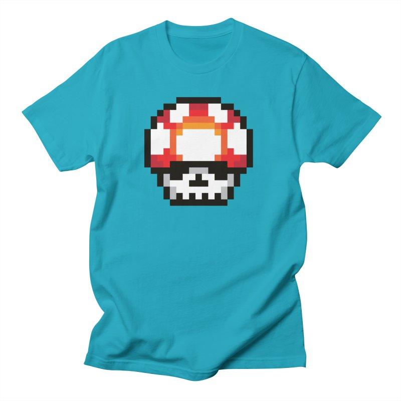 Pixel mushroom Women's T-Shirt by Steven Toang