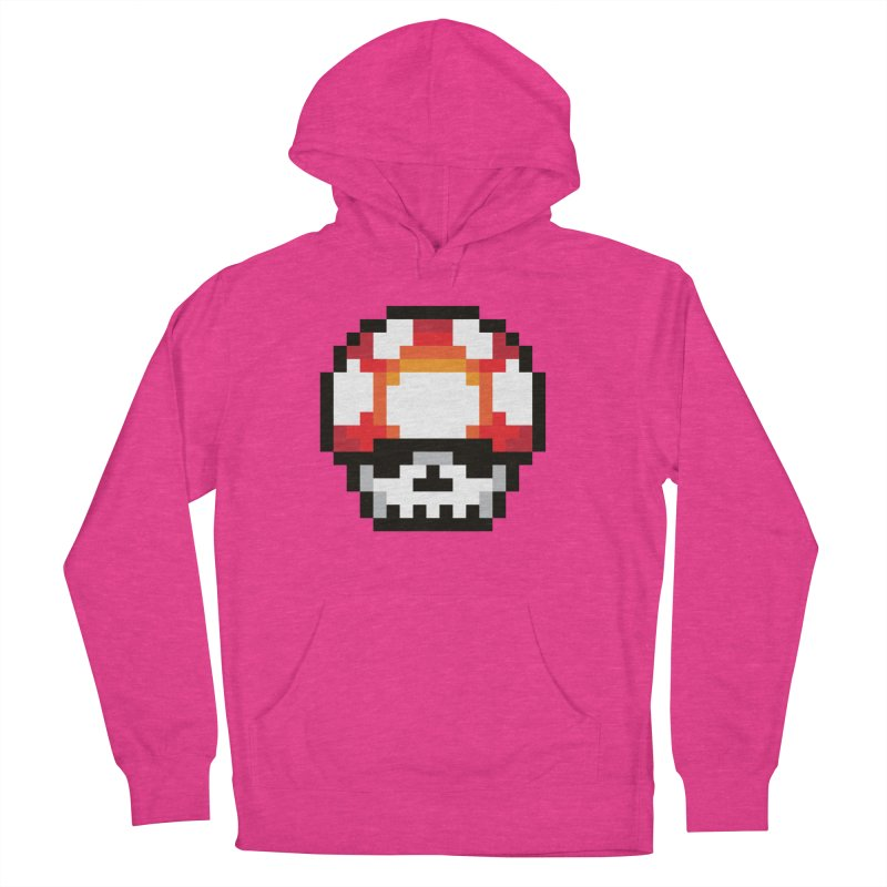 Pixel mushroom Women's French Terry Pullover Hoody by Steven Toang