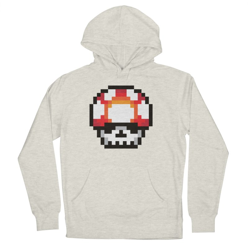 Pixel mushroom Men's French Terry Pullover Hoody by Steven Toang