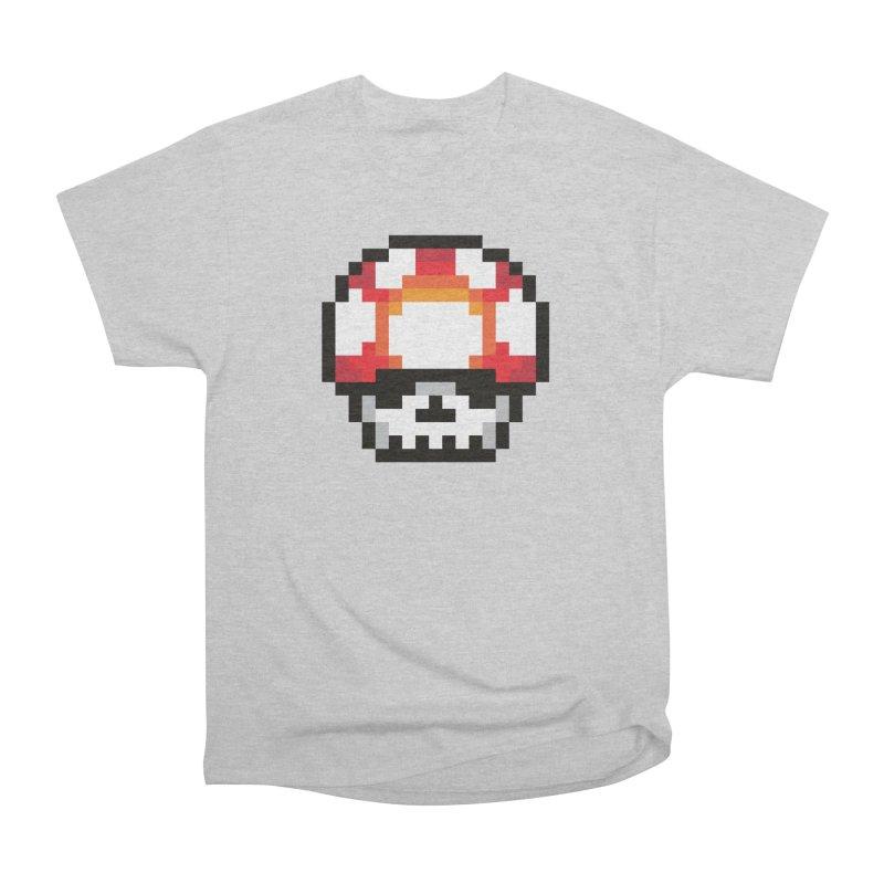 Pixel mushroom Women's Heavyweight Unisex T-Shirt by Steven Toang