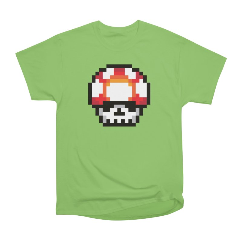 Pixel mushroom Men's Heavyweight T-Shirt by Steven Toang