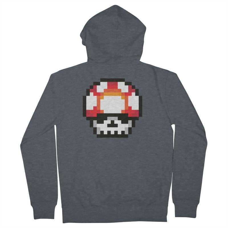 Pixel mushroom Women's Zip-Up Hoody by Steven Toang