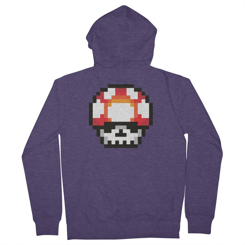 Pixel mushroom Men's French Terry Zip-Up Hoody by Steven Toang