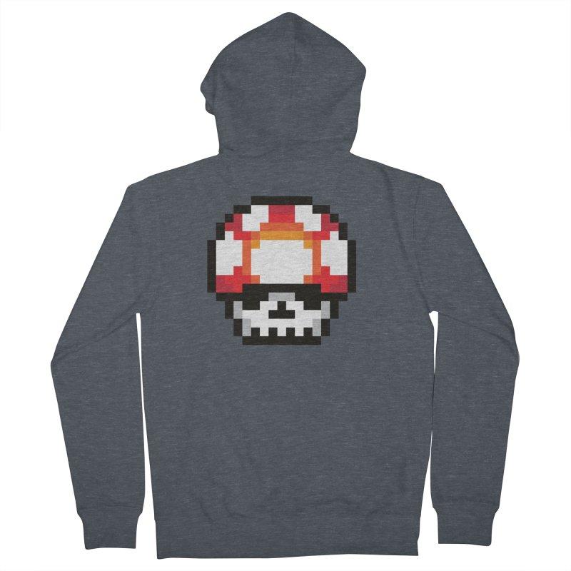 Pixel mushroom Men's Zip-Up Hoody by Steven Toang