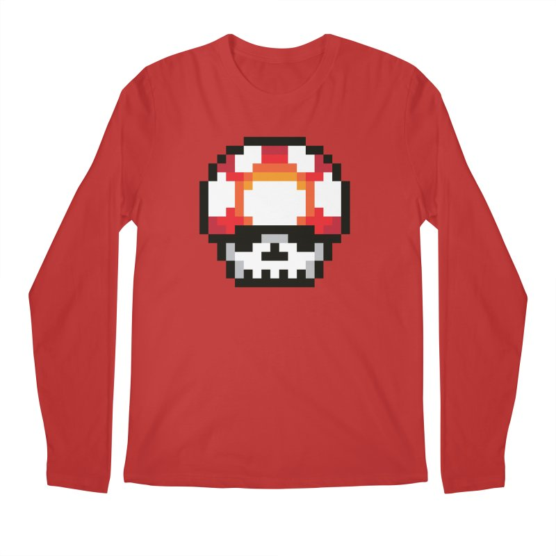 Pixel mushroom Men's Longsleeve T-Shirt by Steven Toang