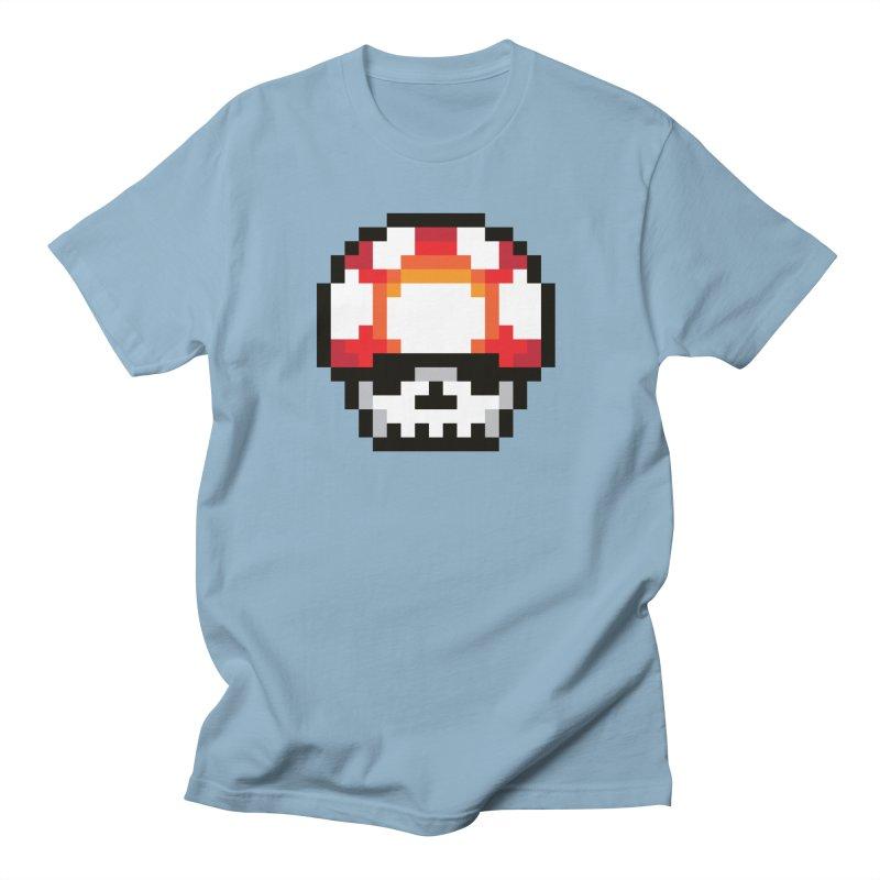 Pixel mushroom Men's T-Shirt by Steven Toang