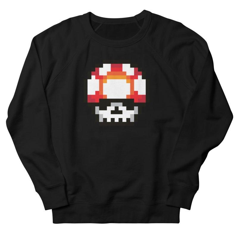 Pixel mushroom Men's French Terry Sweatshirt by Steven Toang