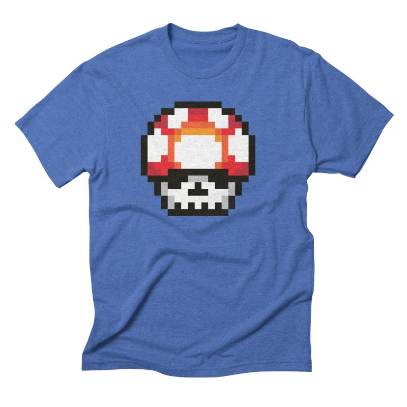 Pixel mushroom Men's Triblend T-Shirt by Steven Toang