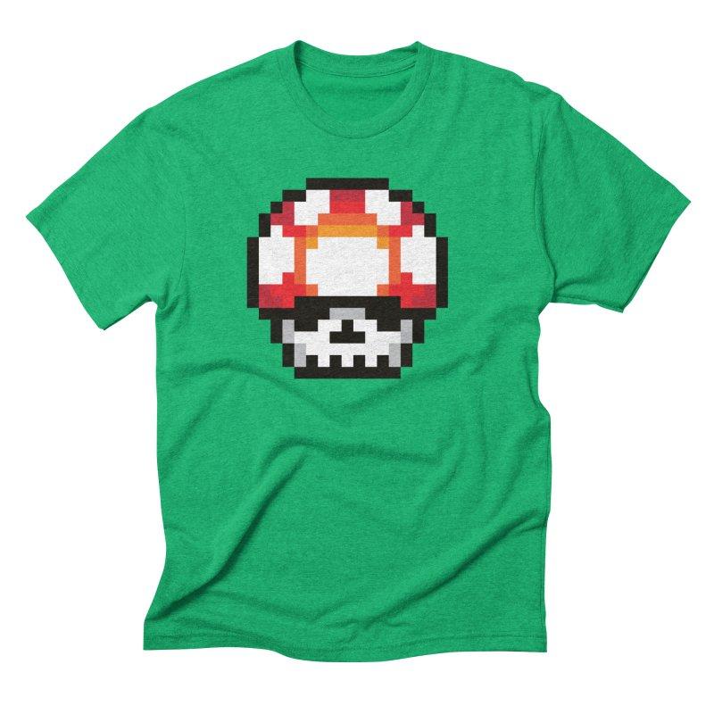 Pixel mushroom Men's Triblend T-Shirt by Steven Toang