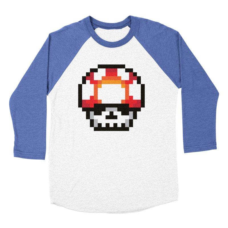 Pixel mushroom Women's Baseball Triblend T-Shirt by Steven Toang
