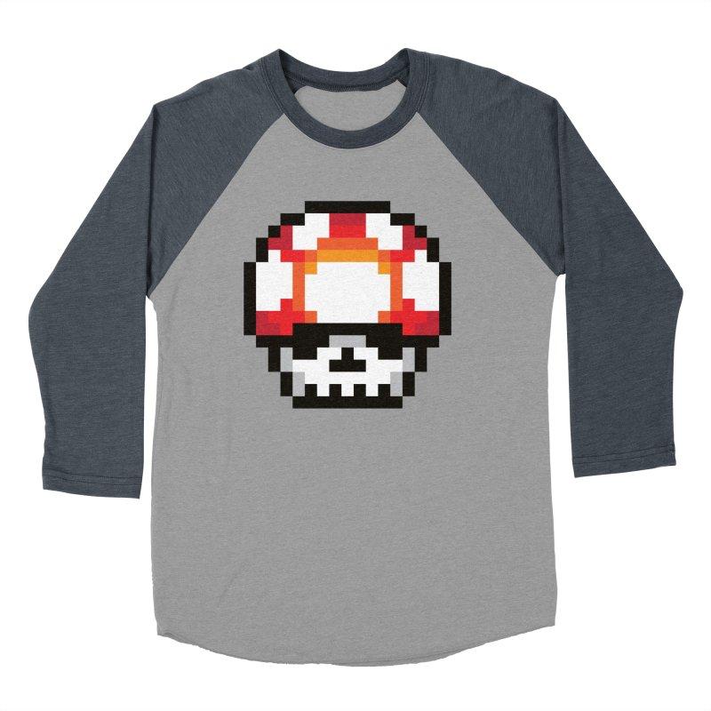 Pixel mushroom Men's Baseball Triblend T-Shirt by Steven Toang