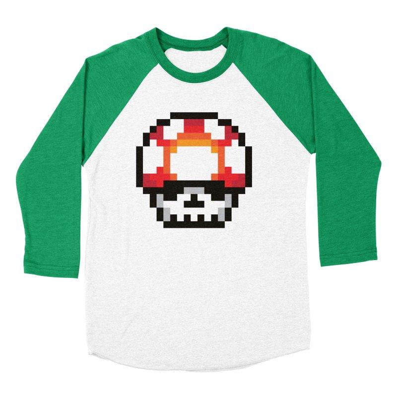 Pixel mushroom Men's Baseball Triblend Longsleeve T-Shirt by Steven Toang