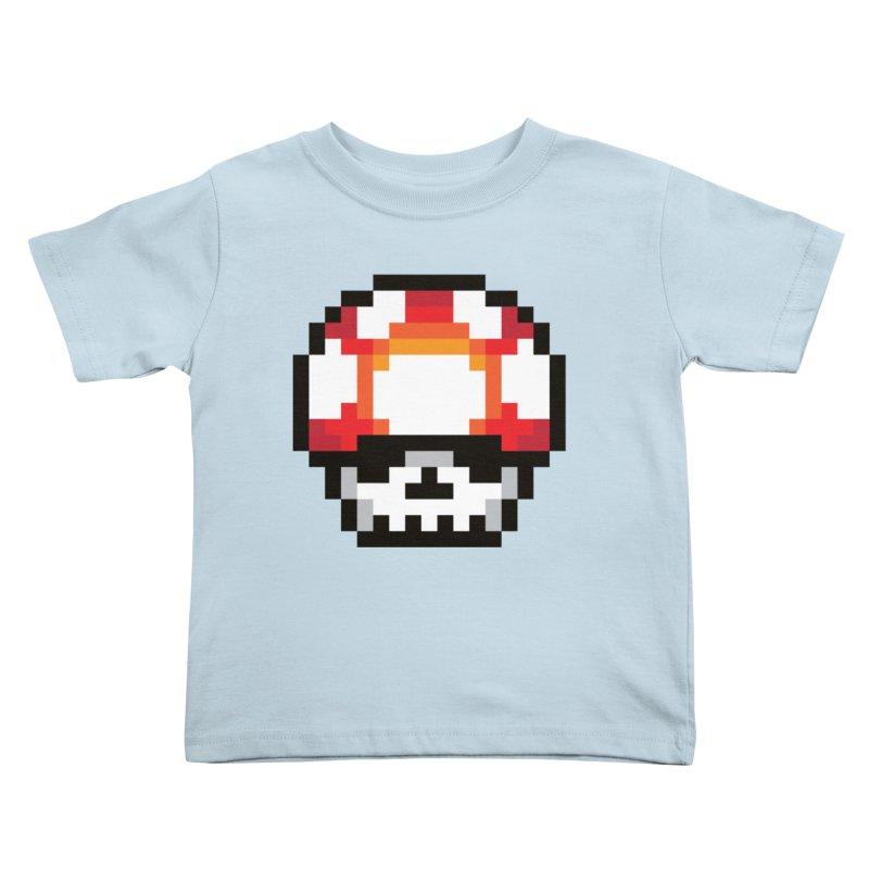 Pixel mushroom Kids Toddler T-Shirt by Steven Toang
