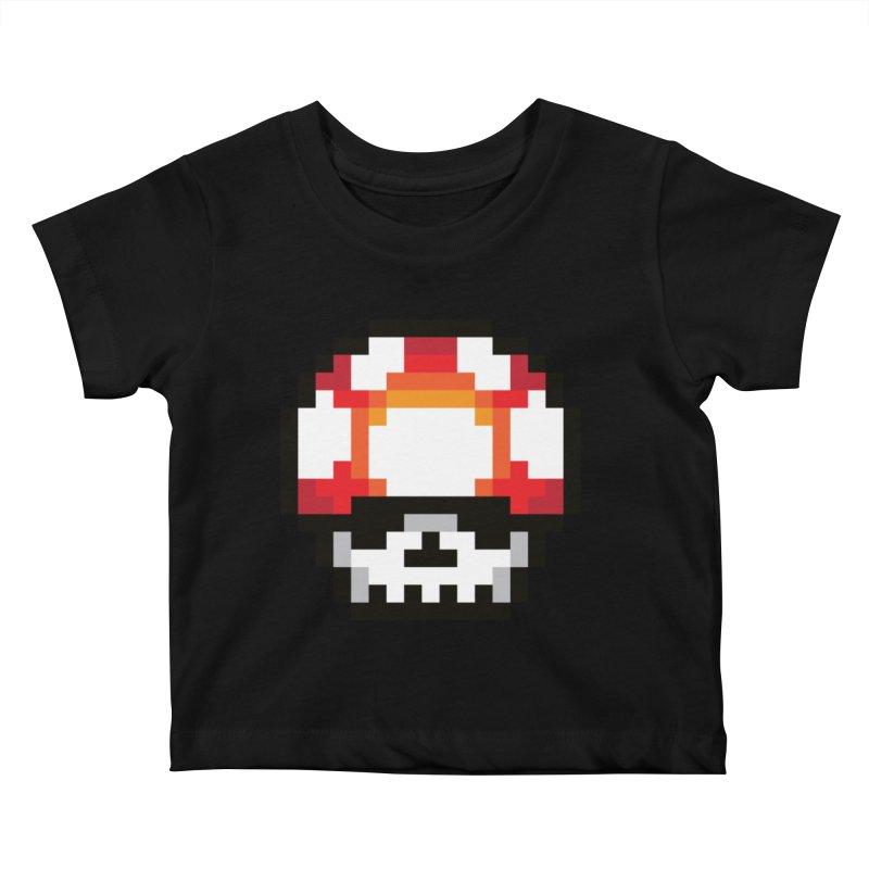 Pixel mushroom Kids Baby T-Shirt by Steven Toang