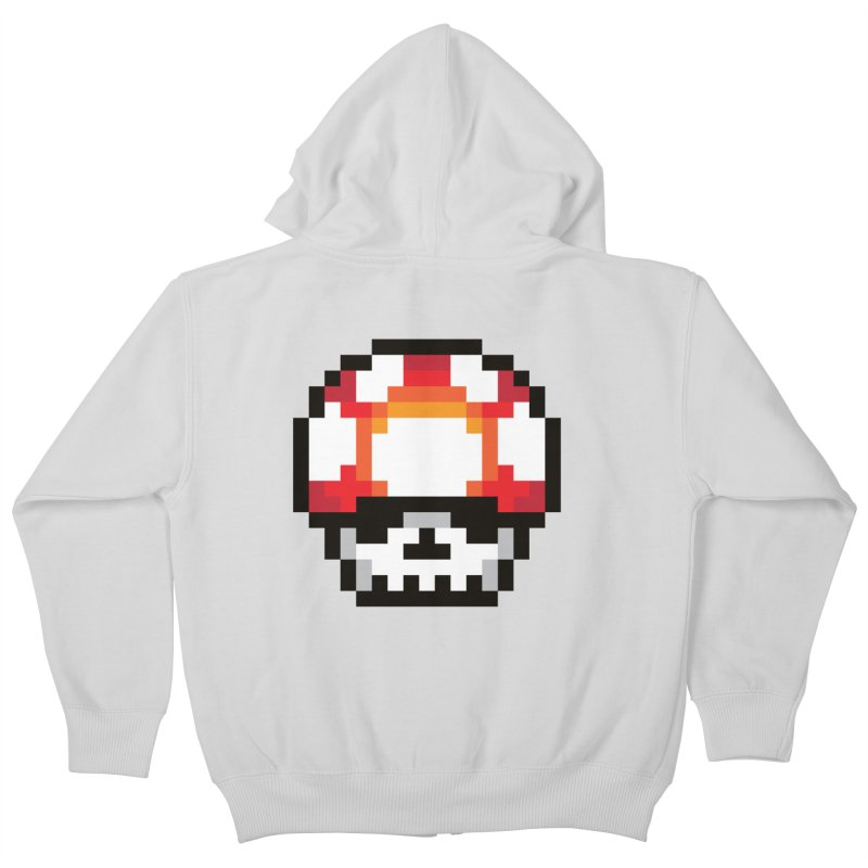 Pixel mushroom Kids Zip-Up Hoody by Steven Toang