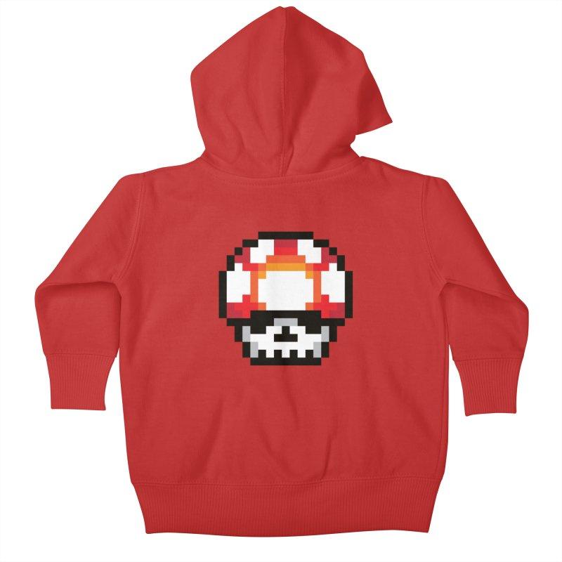 Pixel mushroom Kids Baby Zip-Up Hoody by Steven Toang