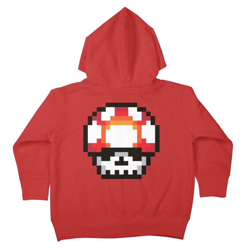 Pixel mushroom Kids Toddler Zip-Up Hoody by Steven Toang