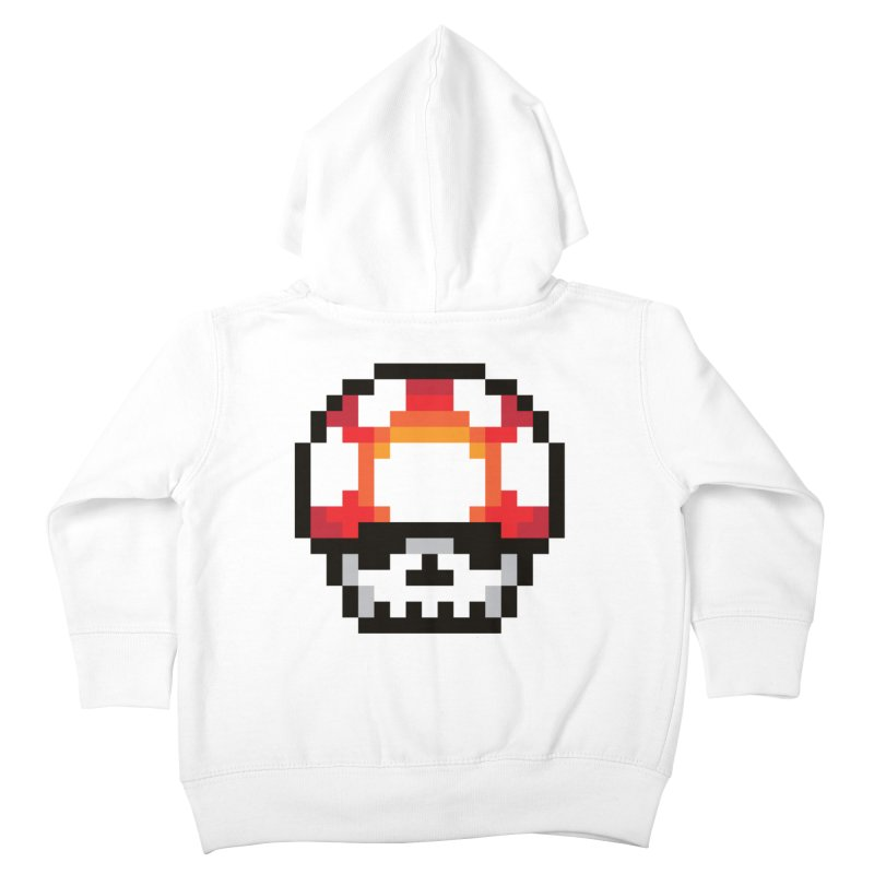 Pixel mushroom Kids Toddler Zip-Up Hoody by Steven Toang