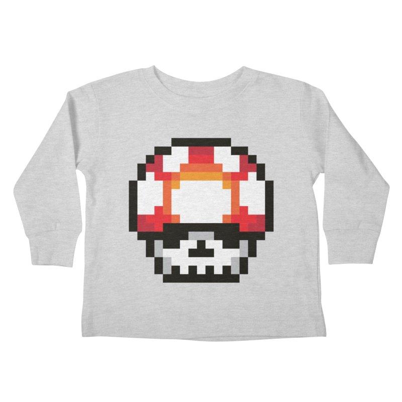 Pixel mushroom Kids Toddler Longsleeve T-Shirt by Steven Toang