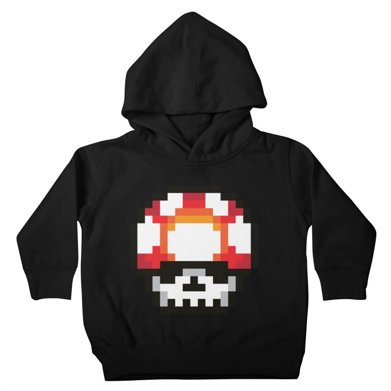 Pixel mushroom Kids Toddler Pullover Hoody by Steven Toang
