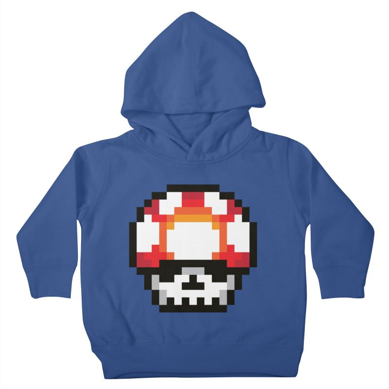 Pixel mushroom Kids Toddler Pullover Hoody by Steven Toang