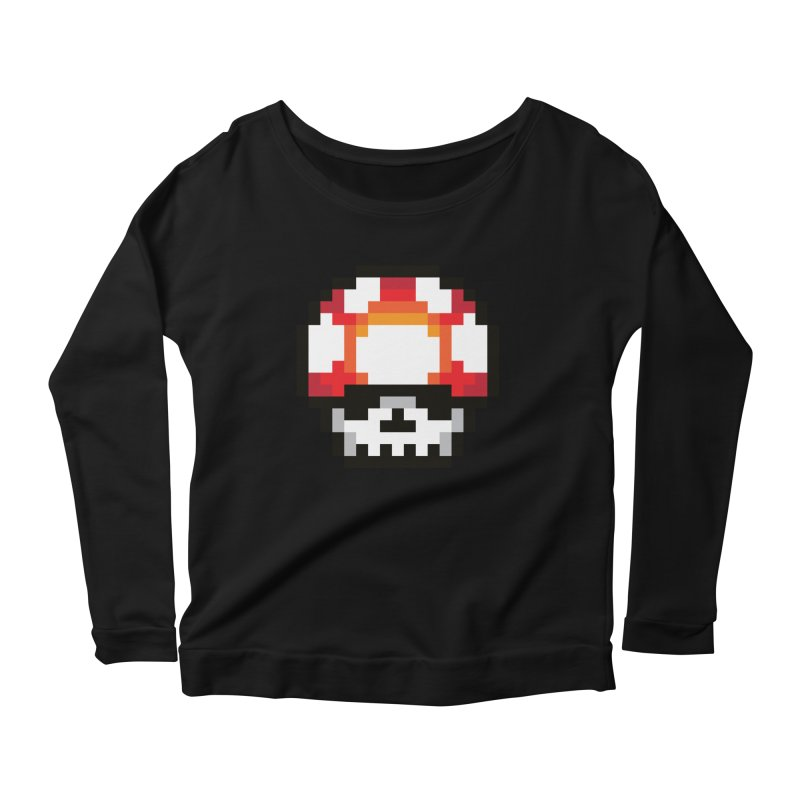 Pixel mushroom Women's Scoop Neck Longsleeve T-Shirt by Steven Toang