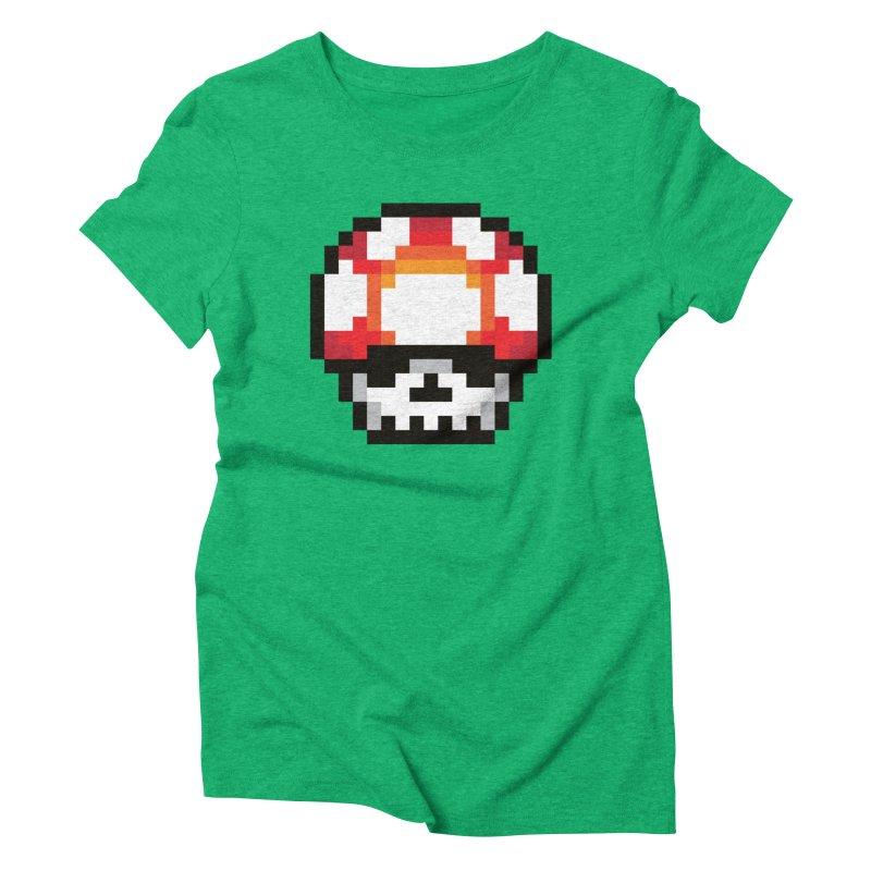 Pixel mushroom Women's Triblend T-Shirt by Steven Toang