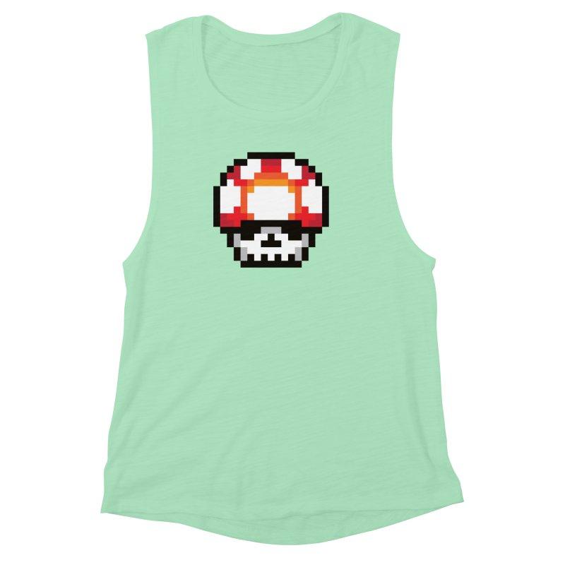 Pixel mushroom Women's Muscle Tank by Steven Toang