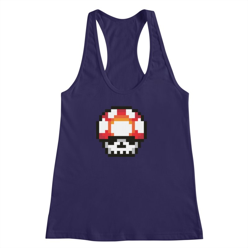 Pixel mushroom Women's Racerback Tank by Steven Toang