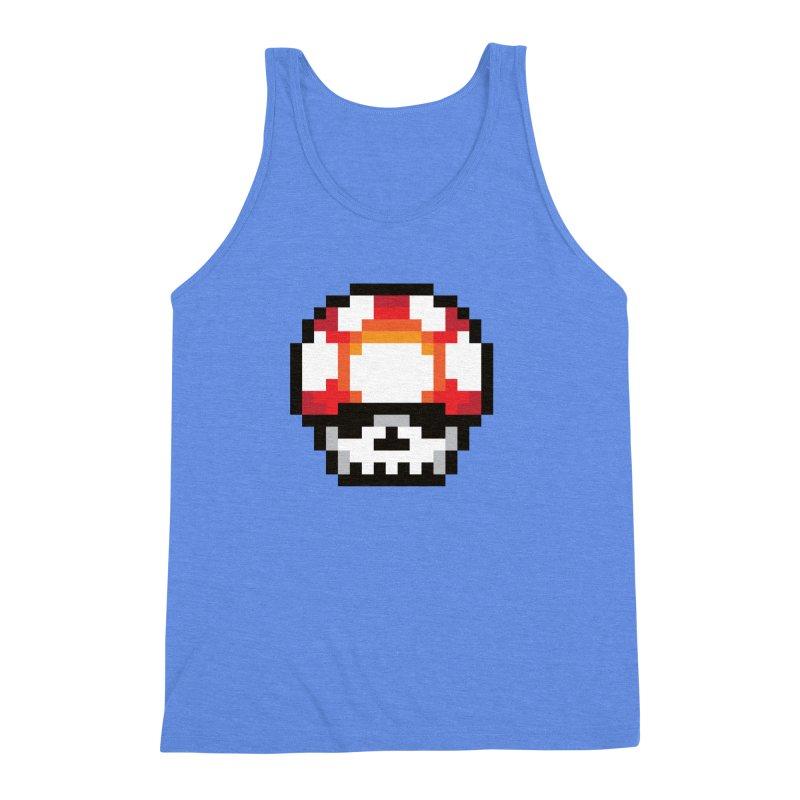 Pixel mushroom Men's Triblend Tank by Steven Toang