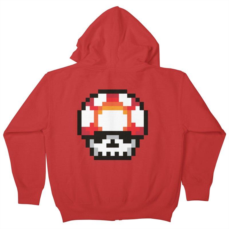 Pixel mushroom Kids Zip-Up Hoody by Steven Toang