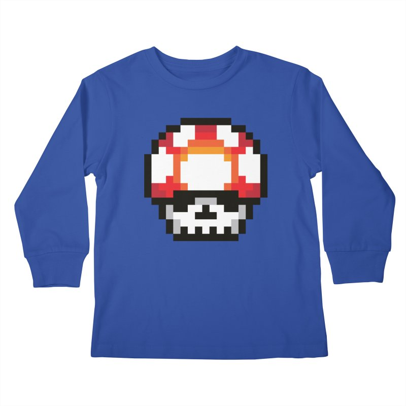 Pixel mushroom Kids Longsleeve T-Shirt by Steven Toang