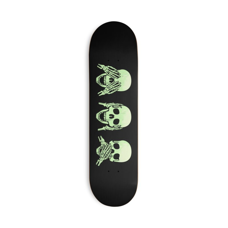 No evil skulls Accessories Deck Only Skateboard by Steven Toang