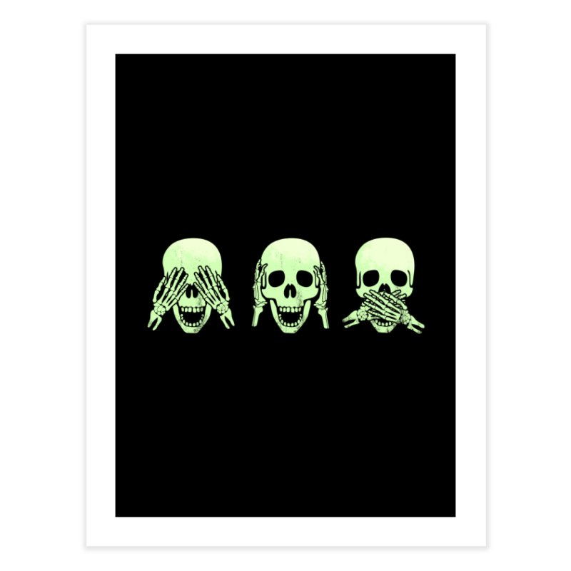 No evil skulls Home Fine Art Print by Steven Toang