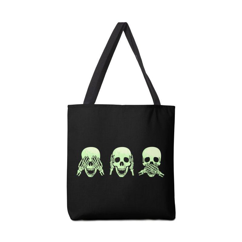No evil skulls Accessories Tote Bag Bag by Steven Toang