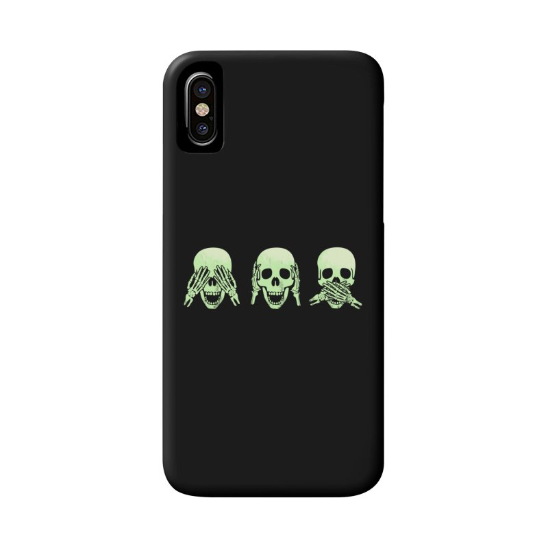 No evil skulls Accessories Phone Case by Steven Toang