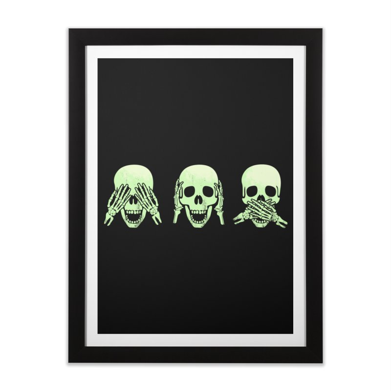 No evil skulls Home Framed Fine Art Print by Steven Toang