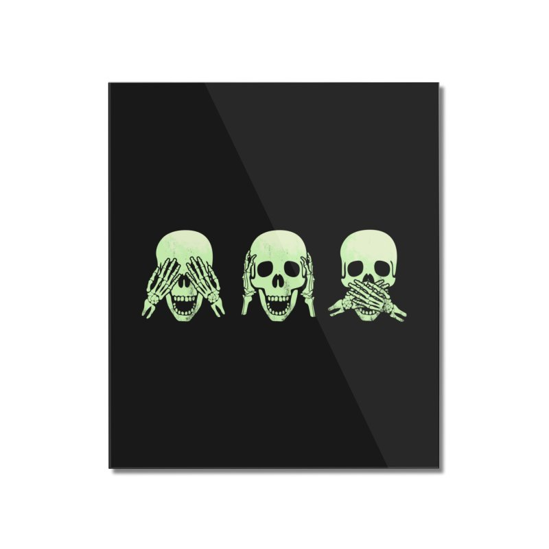 No evil skulls Home Mounted Acrylic Print by Steven Toang