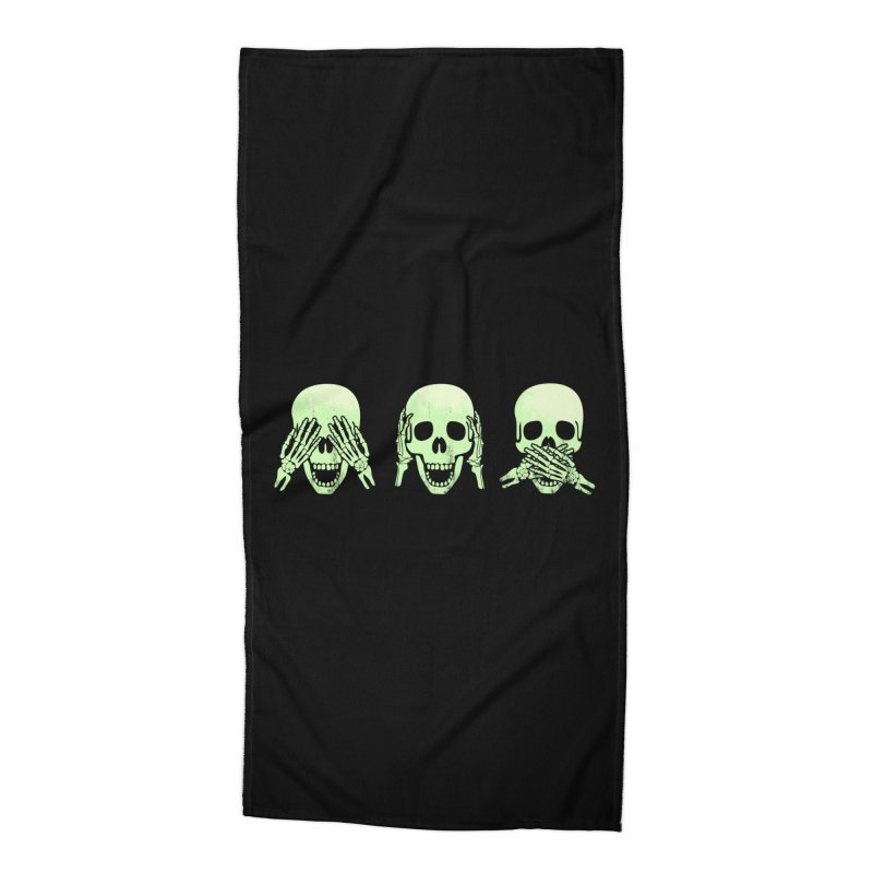 No evil skulls Accessories Beach Towel by Steven Toang