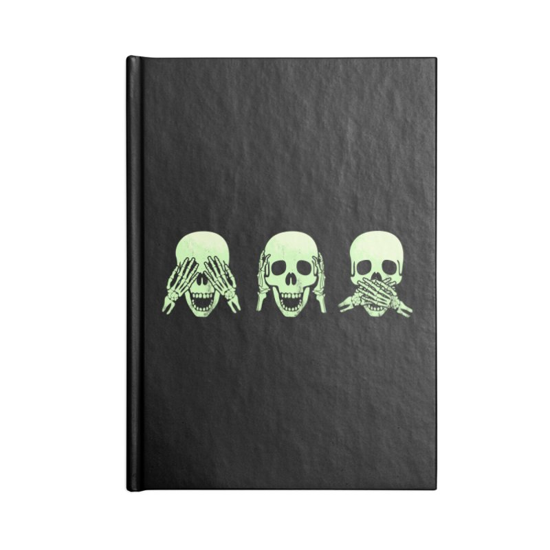 No evil skulls Accessories Blank Journal Notebook by Steven Toang