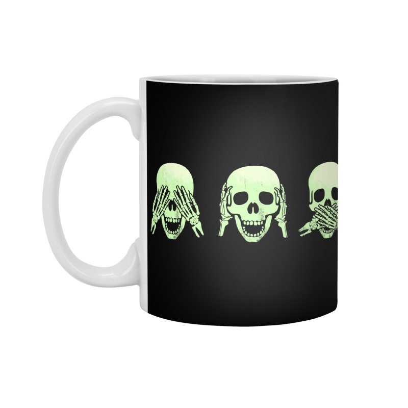 No evil skulls Accessories Standard Mug by Steven Toang