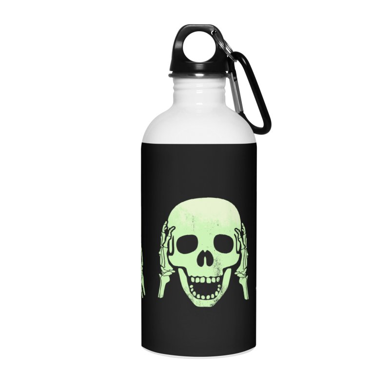No evil skulls Accessories Water Bottle by Steven Toang
